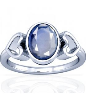 African Blue Sapphire Sterling Silver Ring - K12