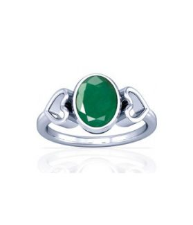 Colombian Emerald Sterling Silver Ring - K12