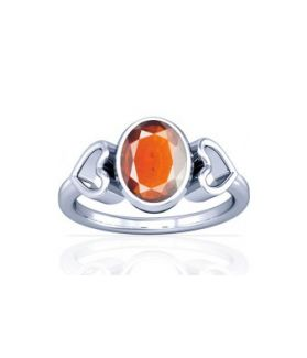 African Hessonite Sterling Silver Ring - K12