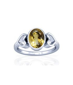 Natural Citrine Sterling Silver Ring - K12