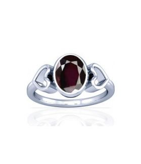 Natural Garnet Sterling Silver Ring - K12