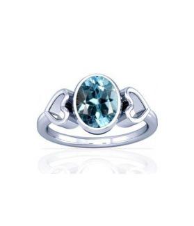 Blue Topaz Sterling Silver Ring - K12