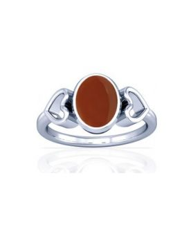 Natural Carnelian Sterling Silver Ring - K12