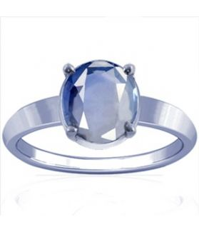 African Blue Sapphire Sterling Silver Ring - K14