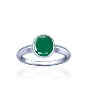 Colombian Emerald Sterling Silver Ring - K1