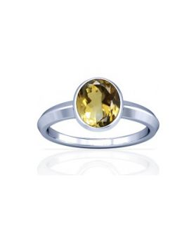 Natural Citrine Sterling Silver Ring - K1