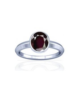 Natural Garnet Sterling Silver Ring - K1