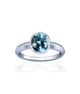 Blue Topaz Sterling Silver Ring - K1