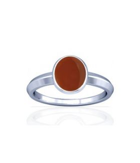 Natural Carnelian Sterling Silver Ring - K1