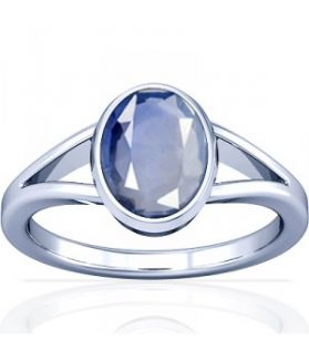 African Blue Sapphire Sterling Silver Ring - K2