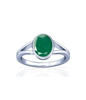 Colombian Emerald Sterling Silver Ring - K2