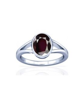 Natural Garnet Sterling Silver Ring - K2