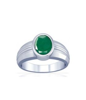 Colombian Emerald Sterling Silver Ring - K4
