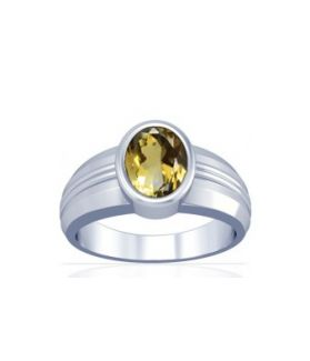 Natural Citrine Sterling Silver Ring - K4