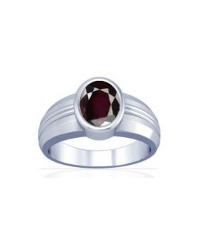 Natural Garnet Sterling Silver Ring - K4