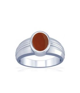 Natural Carnelian Sterling Silver Ring - K4