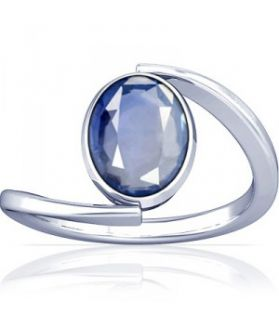 African Blue Sapphire Sterling Silver Ring - K6