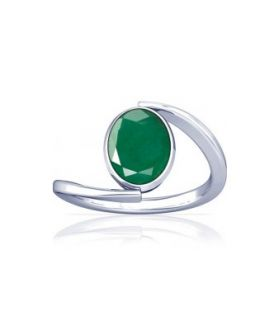 Colombian Emerald Sterling Silver Ring - K6