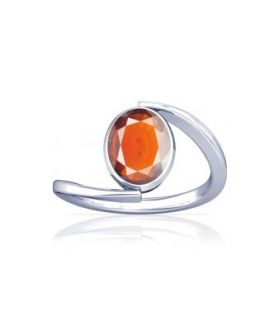 African Hessonite Sterling Silver Ring - K6