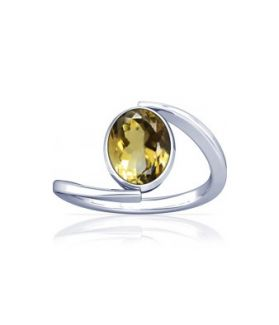 Natural Citrine Sterling Silver Ring - K6