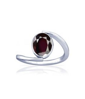 Natural Garnet Sterling Silver Ring - K6