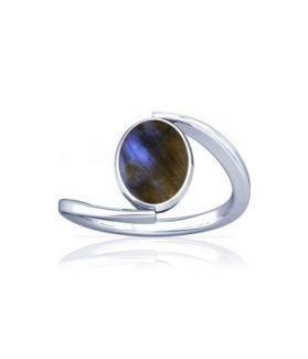 Natural Labradorite Sterling Silver Ring - K6