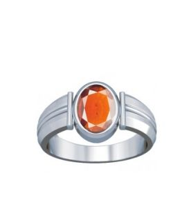 African Hessonite Sterling Silver Ring - K9