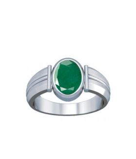 Colombian Emerald Sterling Silver Ring - K9