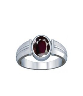 Natural Garnet Sterling Silver Ring - K9