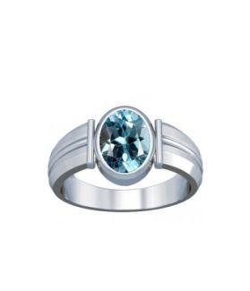 Blue Topaz Sterling Silver Ring - K9