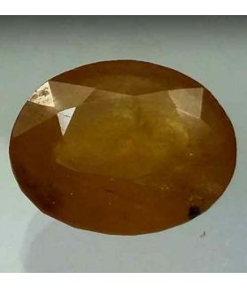 7.78 Carats African Yellow Sapphire 13.32 x 11.16 x 5.61 mm