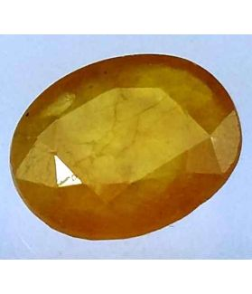 6.72 Carats African Yellow Sapphire 12.98 x 10.83 x 4.57 mm