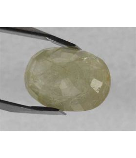 4.82 Carats Yellow Sapphire 9.45 x 8.45 x 5.42 mm