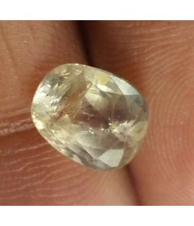 2.85 Carats White Sapphire 8.73 x 7.10 x 4.78 mm