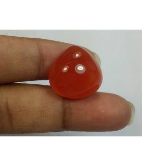 18.41 Carats Orange Chalcedony 17.21 x 17.50 x 8.59 mm
