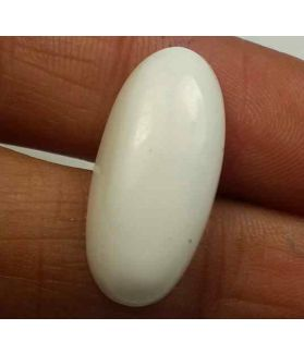 8.70 Carats Italian White Coral 19.21 x 12.09 x 6.66 mm