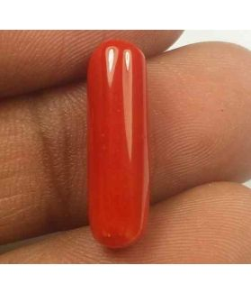 5.25 Carats Red Italian Coral 18.61 x 5.70 x 5.22 mm