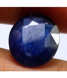 6.85 Carats Blue African Sapphire 11.58 x 10.50 x 5.39 mm