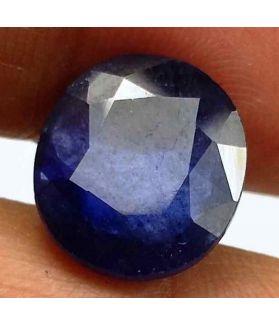 6.00 Carats Blue African Sapphire 11.70 x 10.36 x 4.40 mm