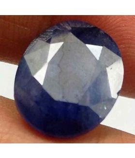6.97 Carats Blue African Sapphire 13.00 x 10.62 x 4.66 mm