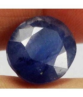 8.01 Carats Blue African Sapphire 11.65 x 10.38 x 6.49 mm