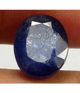 6.09 Carats Blue African Sapphire 10.64 x 8.76 x 5.77 mm