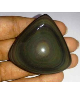 139.48 Carats Obsidian Eye 47.33 X 50.06 X 11.00 mm