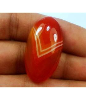 33.01 Carats Banded Agate 30.61 X 16.96 X 8.02 mm