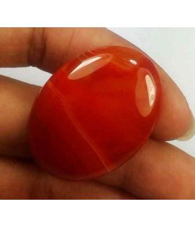 46.66 Carats Banded Agate 34.04 X 25.10 X 6.40 mm