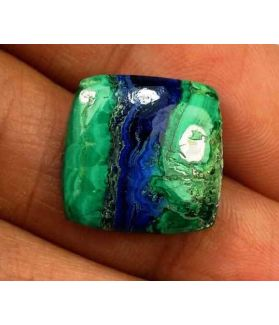 9.59 Carats Azurite Malachite 14.29 X 13.99 X 3.97 mm