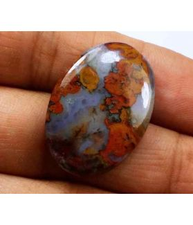18.17 Carats Plum Root Agate 25.51 X 17.85 X 4.62 mm