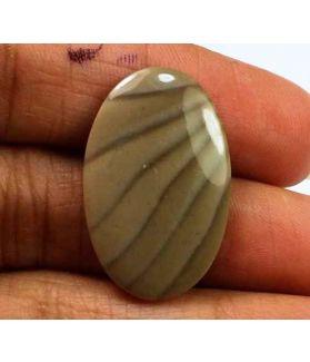12.72 Carats Striped Flint 26.01 X 16.71 X 3.48 mm