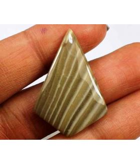 14.35 Carats Striped Flint 30.66 X 19.69 X 3.86 mm