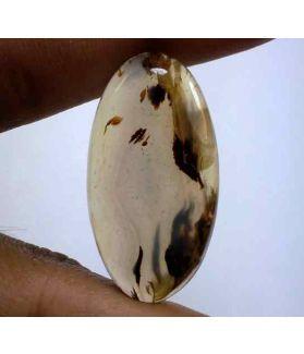 24.91 Carats Montana Agate 33.53 X 17.74 X 5.15 mm